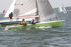 Racing a sailboat on central north carolina